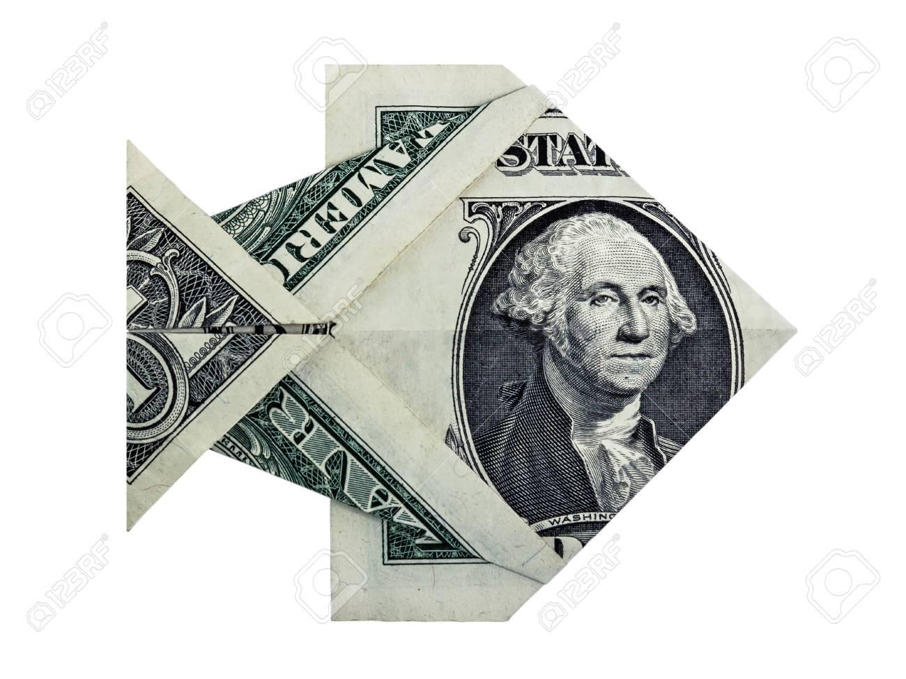 Origami dollar fish money symbol business on a white background origami dollar fish money symbol business on a white background stock photo 78284749 jeuxipadfo Choice Image