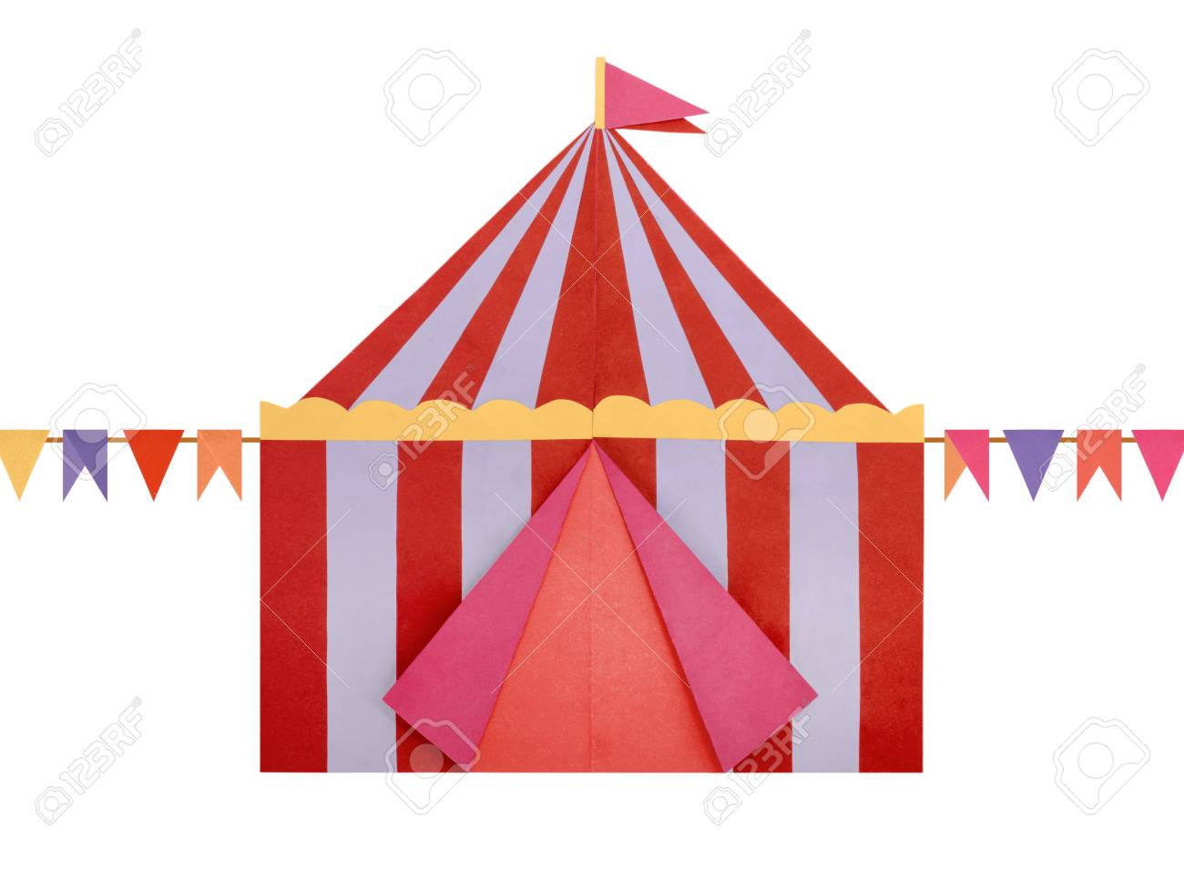 Circus Tent origami paper Stock Photo - 98417192  sc 1 st  123RF.com & Circus Tent Origami Paper Stock Photo Picture And Royalty Free ...