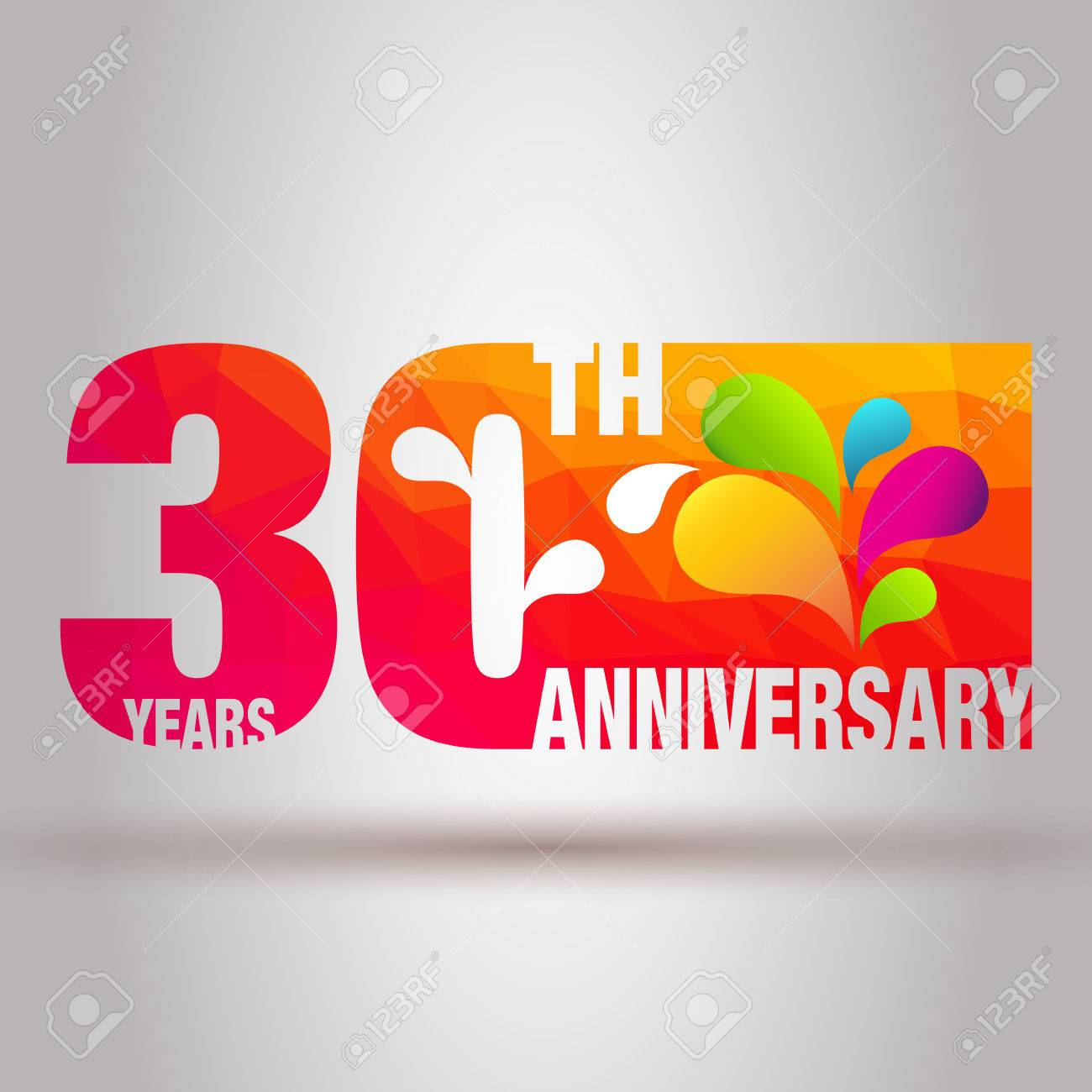 Anniversary Card. Anniversary Background. 30th Anniversary Template. Stock  Vector   65949651