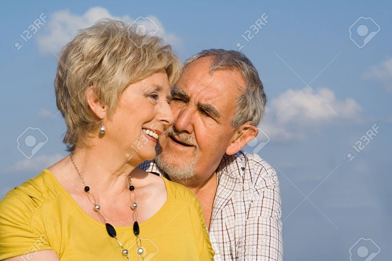 happy, loving senior  couple Stock Photo - 2689318