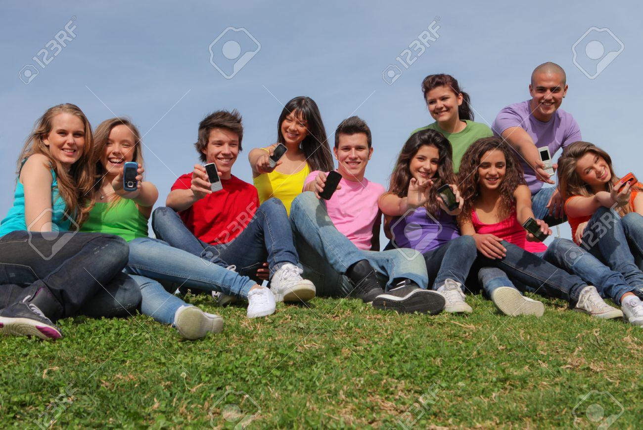 teens at summer youth camp Stock Photo - 8727598
