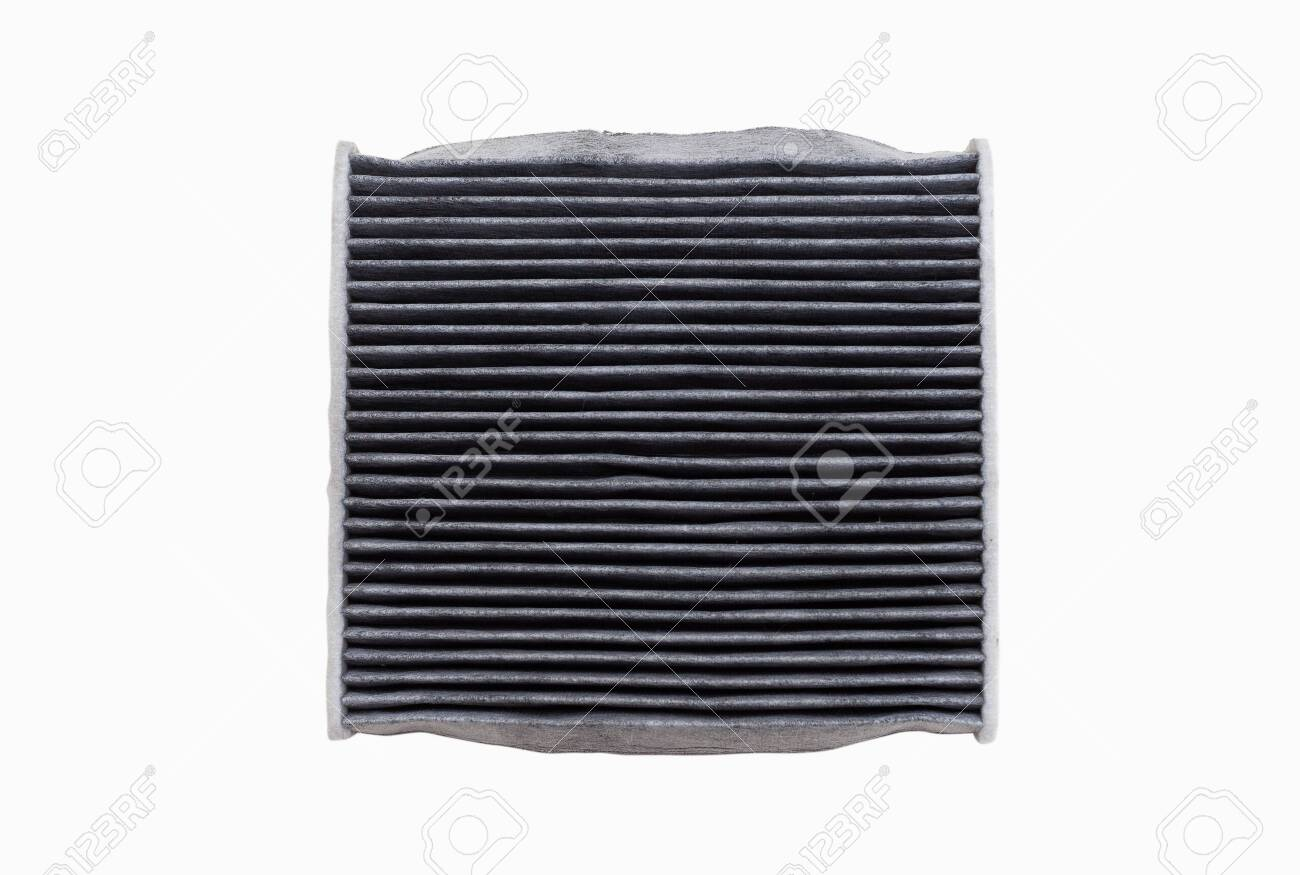 The top side of dirty air conditioning filters isolated on white background with clipping path. Car, automotive services parts. - 134879149