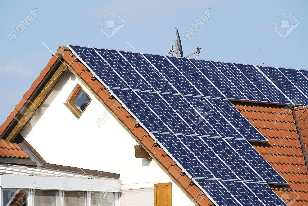 Alternative energy at a residential house Stock Photo - 7204079
