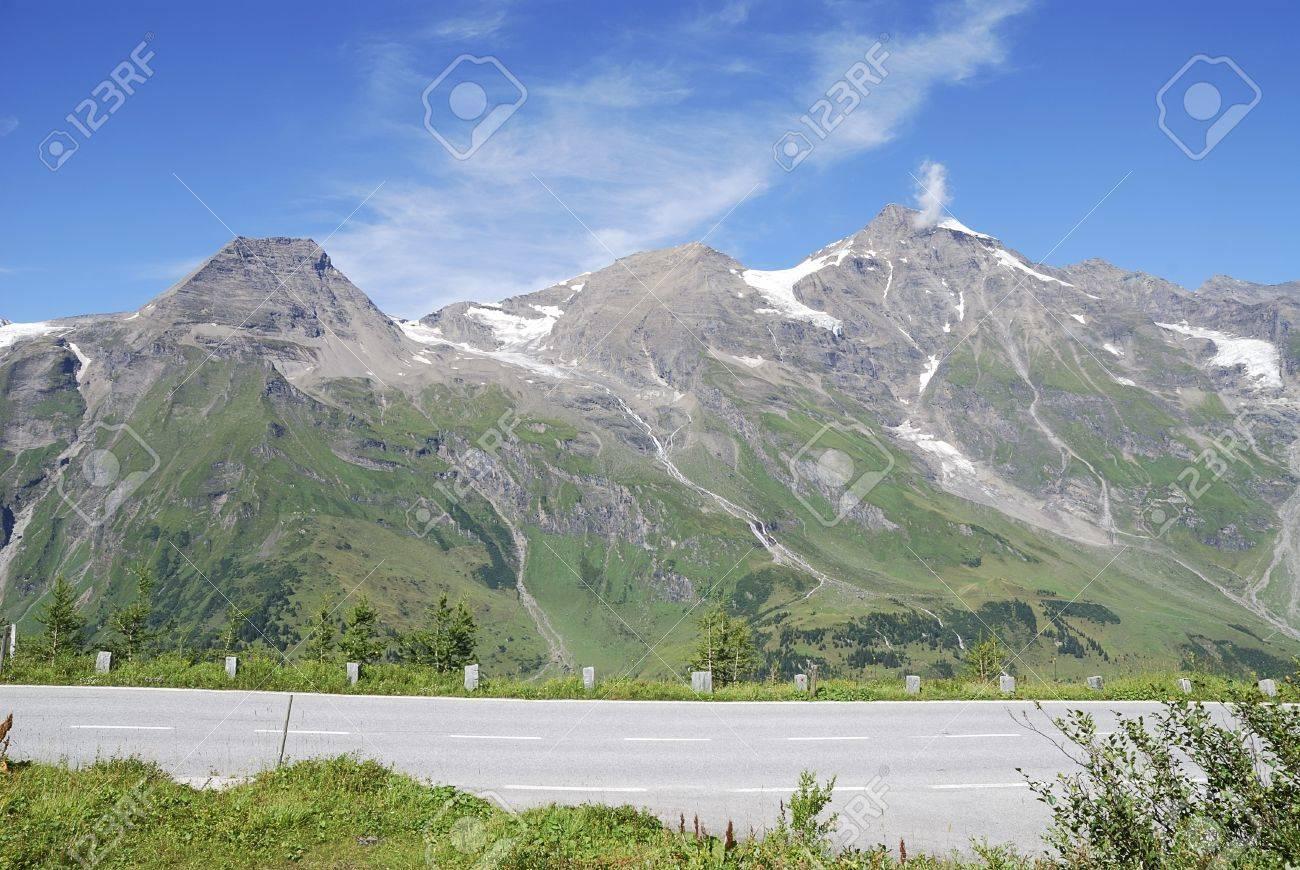 Mountain view in Austria at the Grossglockner Hochalpenstrasse (high alpine road). Stock Photo - 8469556