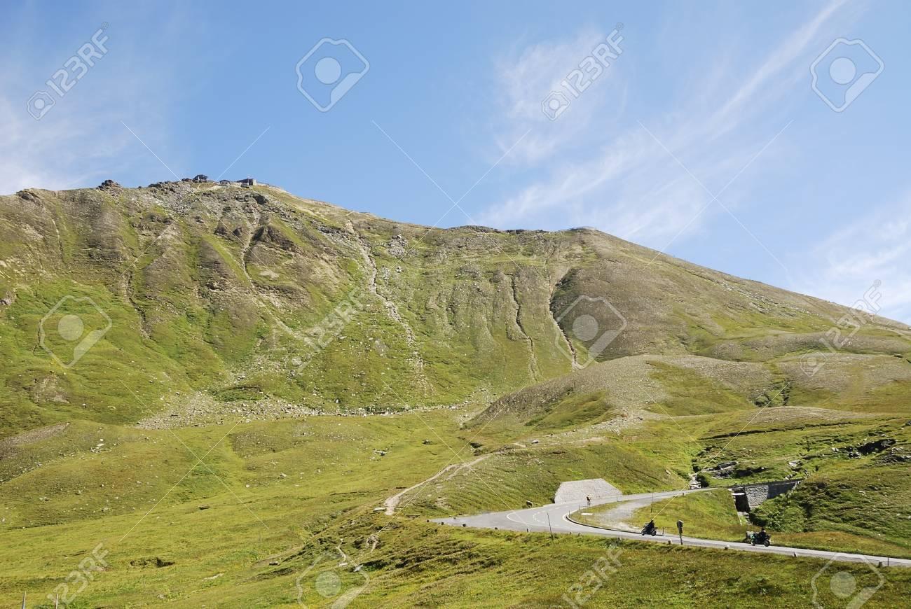 Mountain view in Austria at the Grossglockner Hochalpenstrasse (high alpine road). Stock Photo - 8746421