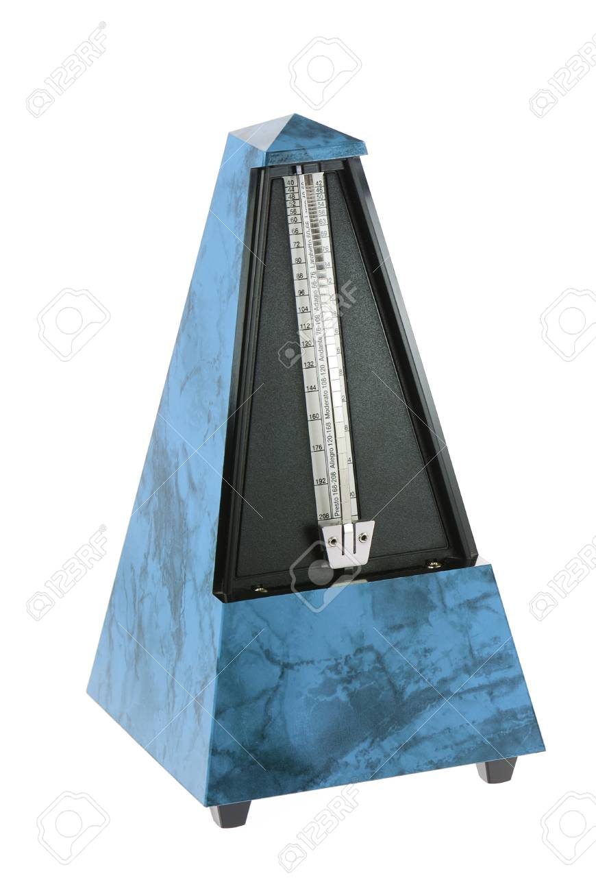 Musical Metronome isolated on white Stock Photo - 8987633
