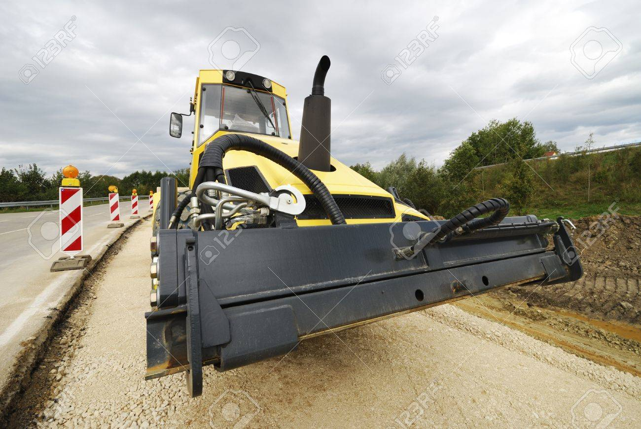 Roadworks with a road roller Stock Photo - 17177043