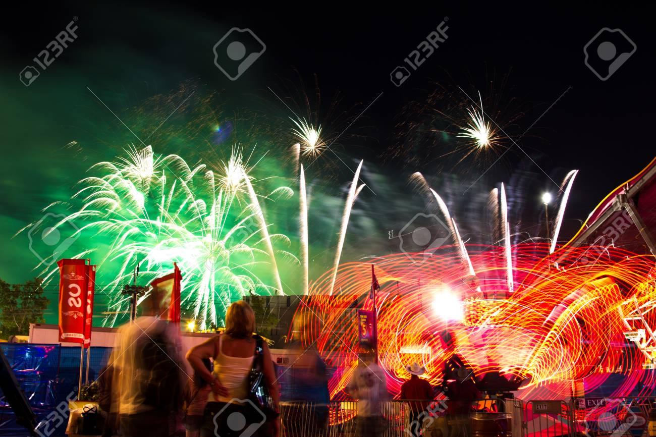 Calgary Stampede Fireworks Stock Photo - 18832249