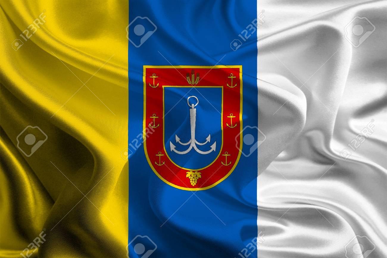 ウクライナ オデッサ州の州の旗 ...