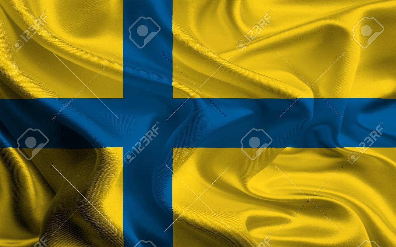 Unofficial Flag Of The Traditional County Ostergotland Sweden Stock Photo Picture And Royalty Free Image Image 27430626