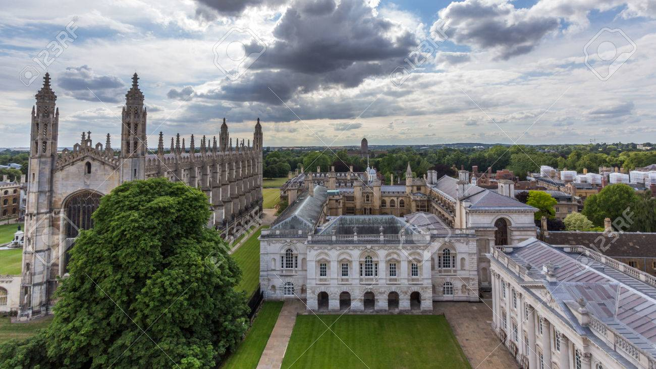 view of cambridge university king's college chapel and the old