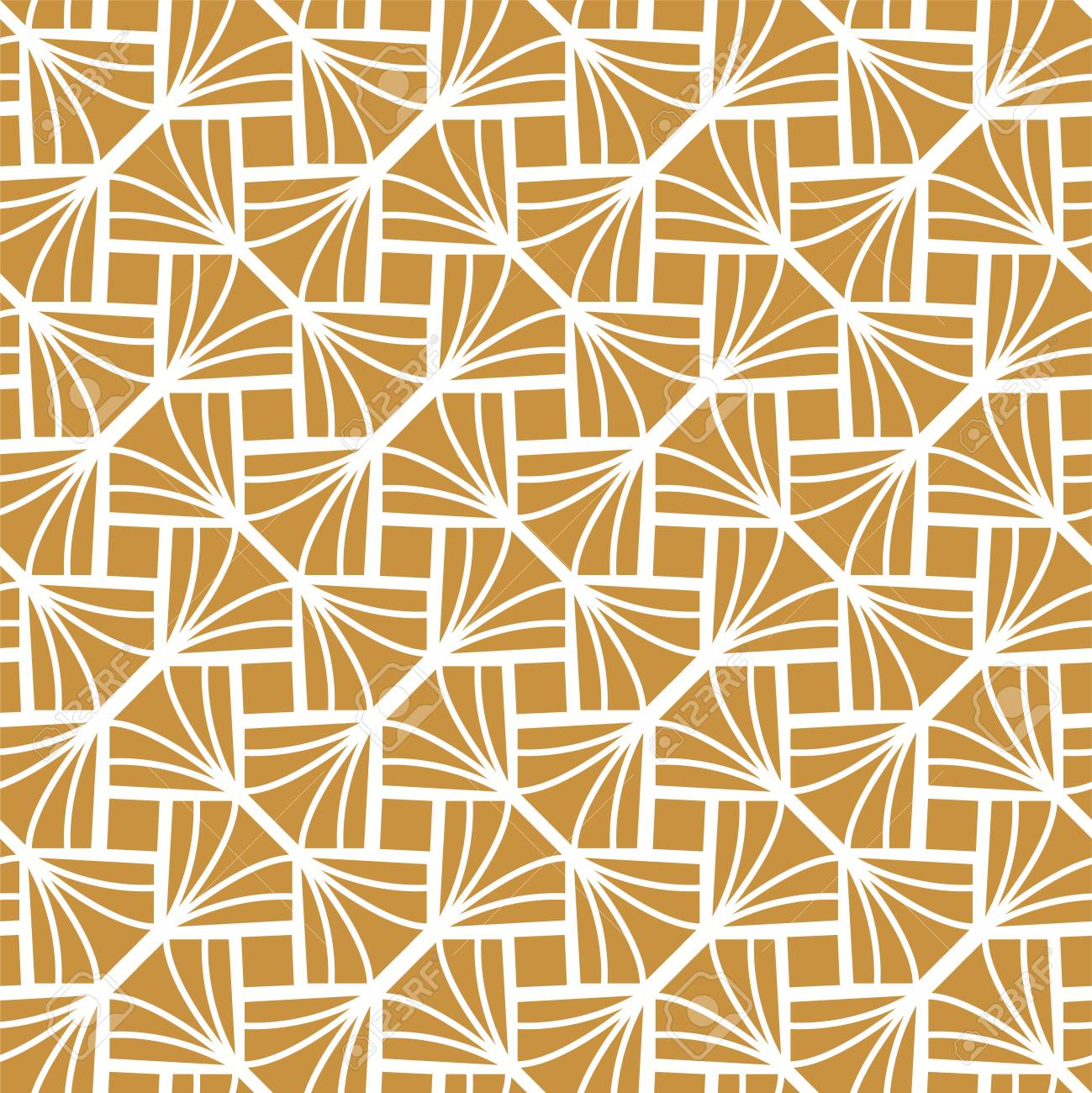 Classic Diamond Art Deco Seamless Pattern. Geometric Stylish Texture. Abstract Retro Vector Texture. - 101707456