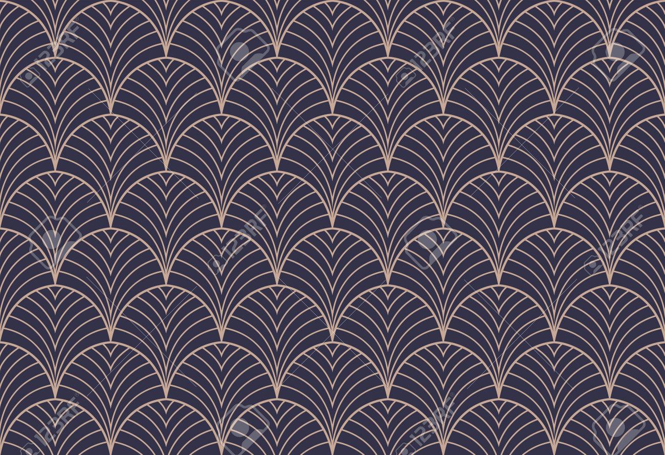 Art deco seamless pattern. Abstract vector background. Geometric elegant texture. - 168263457