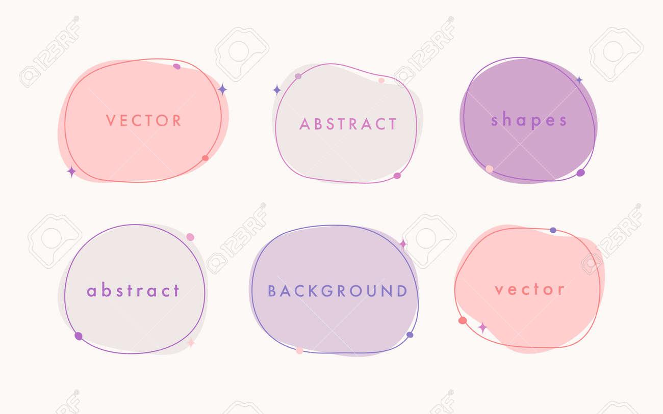 Abstract vector minimal background. Trendy organic shape banner for social media, invitation, web. - 168264848