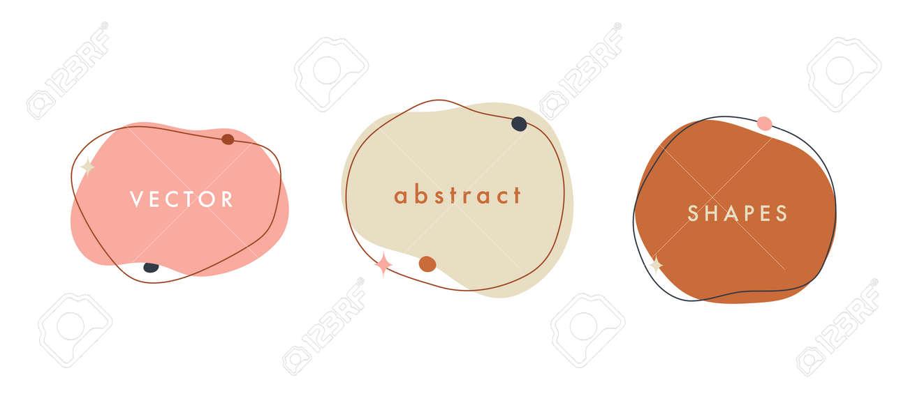 Abstract vector minimal background. Trendy organic shape banner for social media, invitation, web. - 168264851