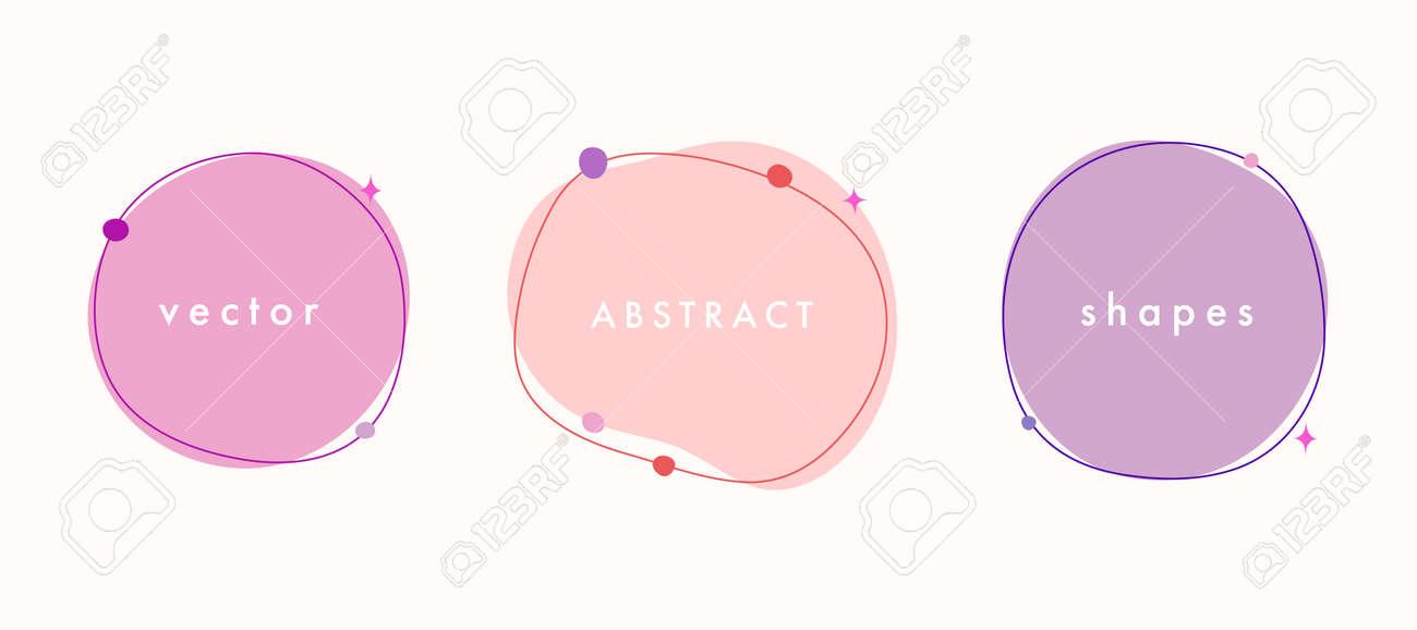 Abstract vector minimal background. Trendy organic shape banner for social media, invitation, web. - 168264853