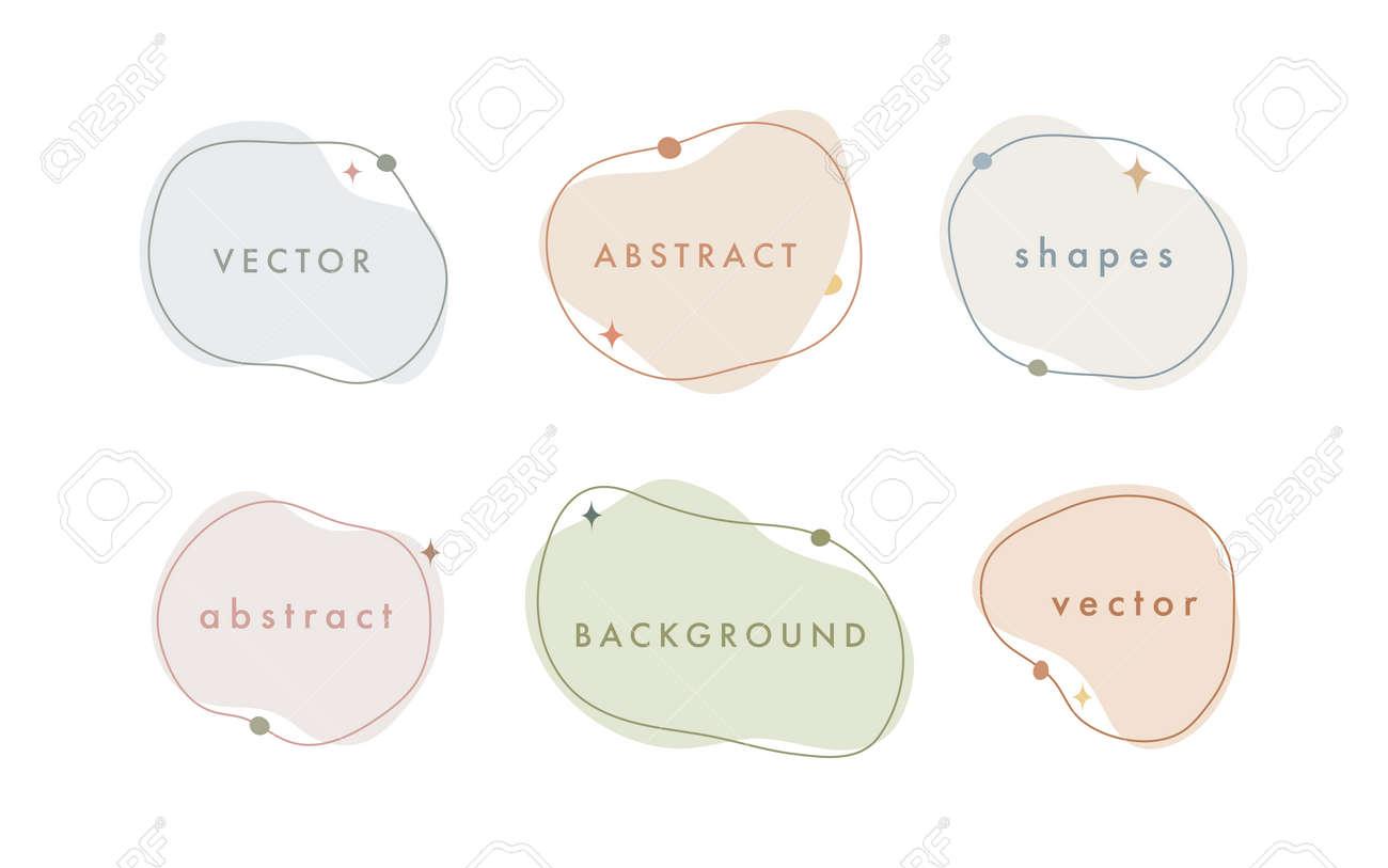 Abstract vector minimal background. Trendy organic shape banner for social media, invitation, web. - 168264850