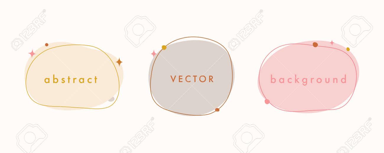 Abstract vector minimal background. Trendy organic shape banner for social media, invitation, web. - 168264854