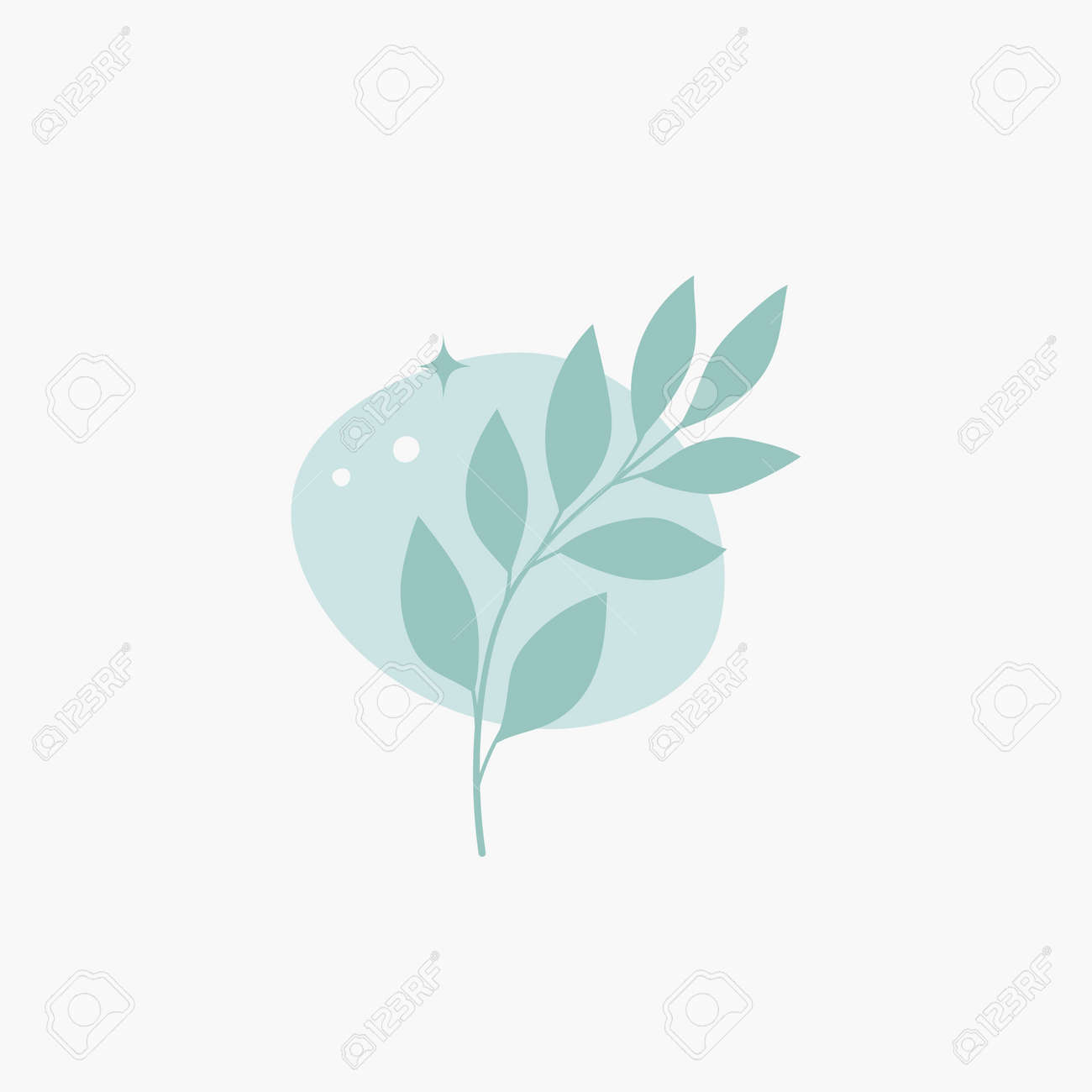 Vector modern floral arrangement background. Cute delicate botanical illustration with leaves and plants. - 168265261