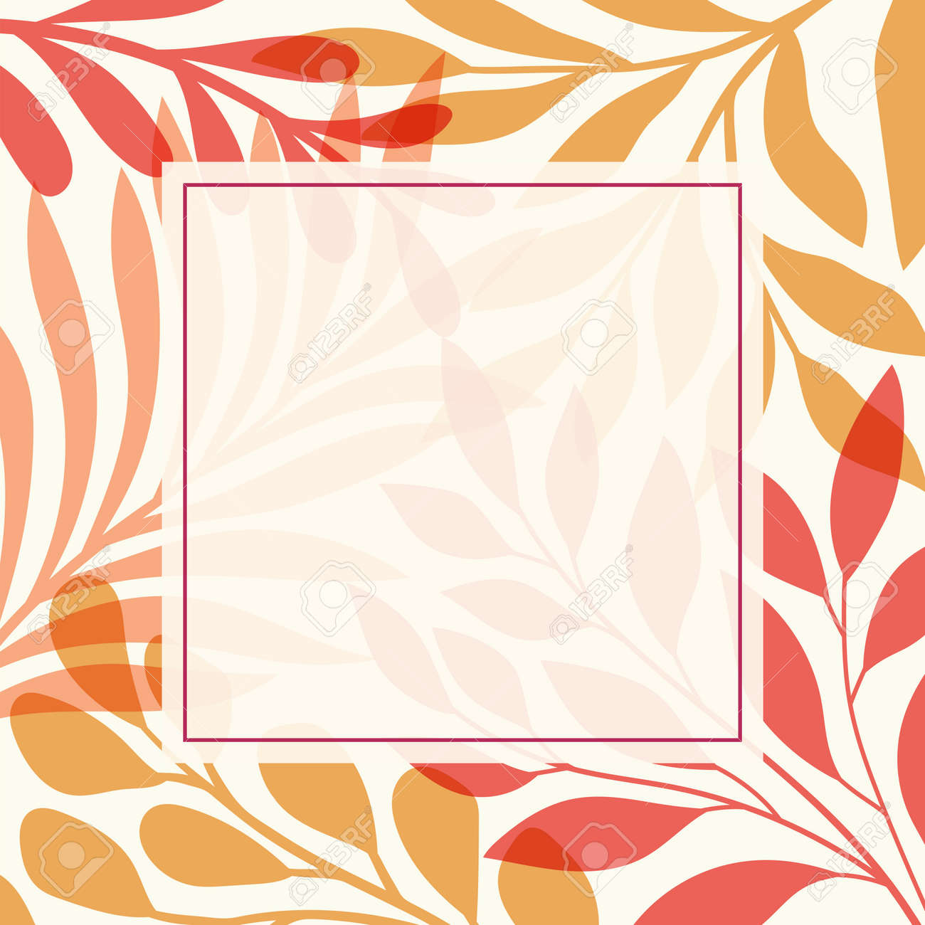 Modern floral vector banner. Botanical illustration template background. Abstract plant elements for print design, social media, post banner and presentation. - 168265311