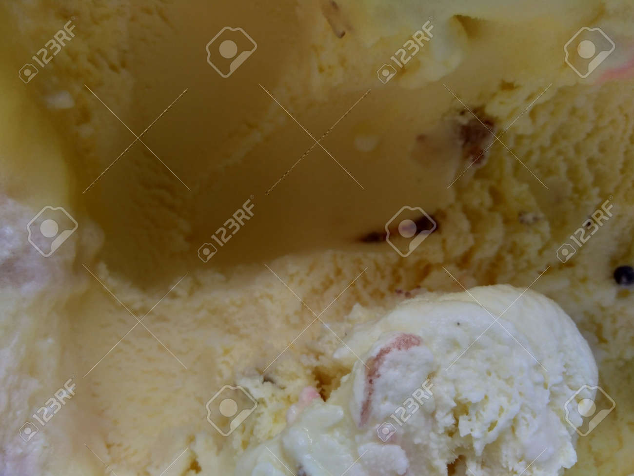 Close up shot of ice cream as background - 141465694