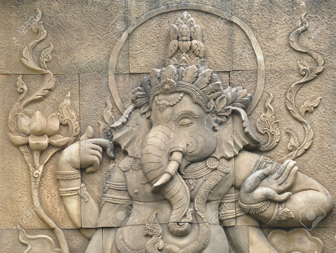 stone sculpture of indian god ganesh Stock Photo - 13028010