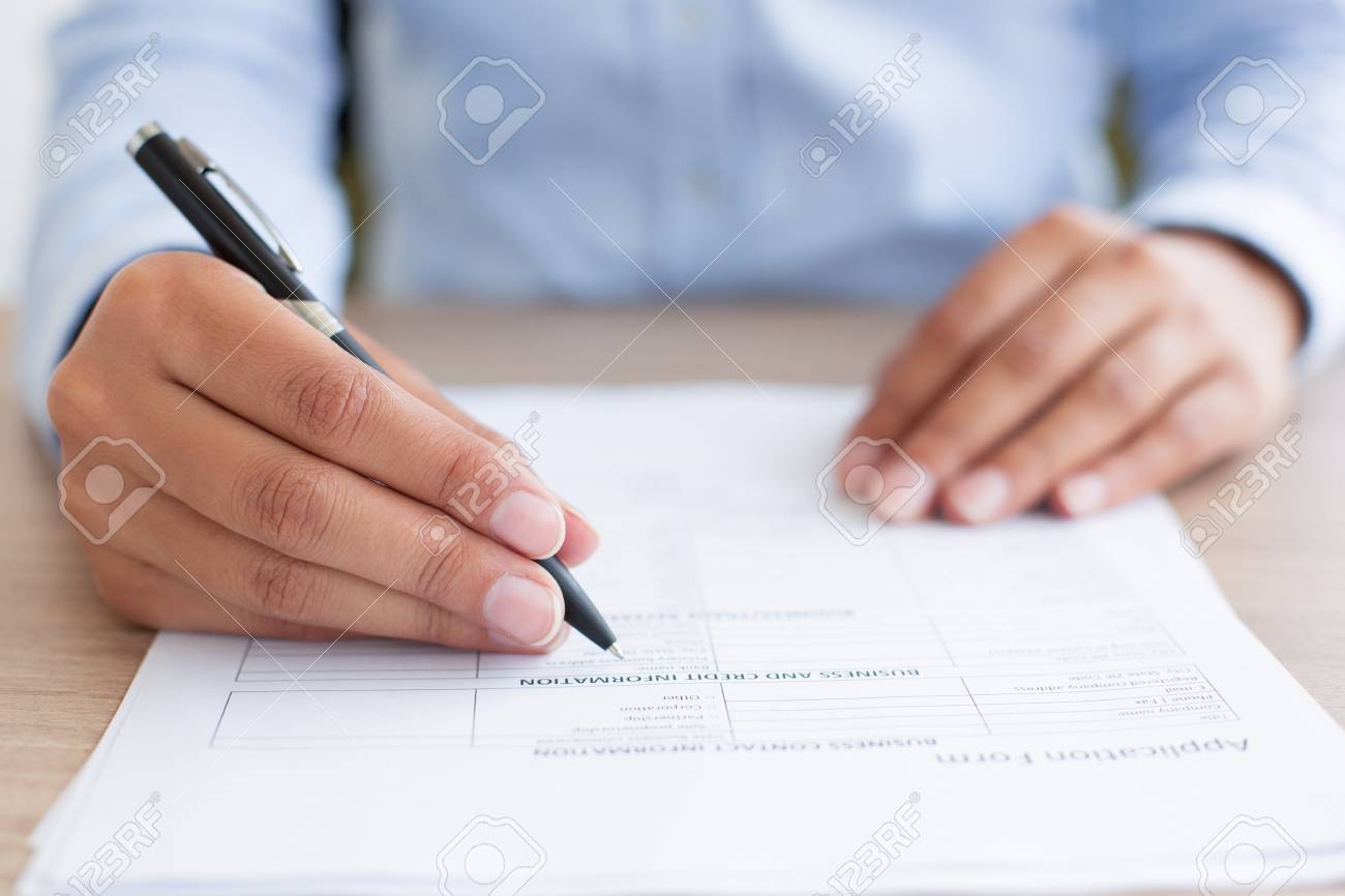 filling out application