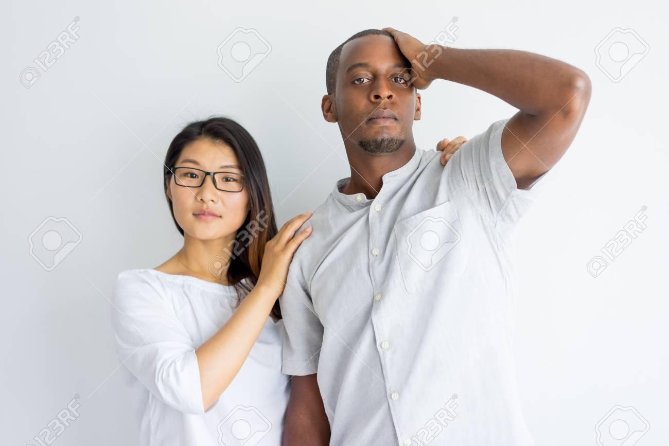guy touching girl