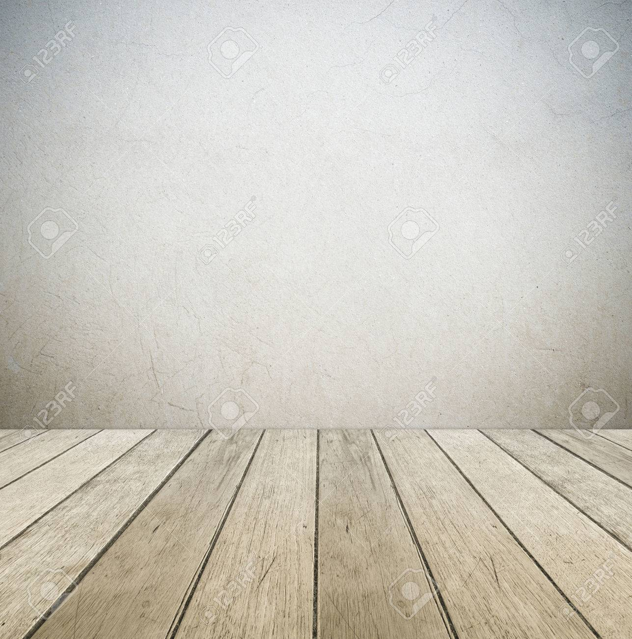 wood floor perspective. Cement Wall And Vintage Wooden Floor, Perspective View, Grunge Background, Template Stock Photo Wood Floor F