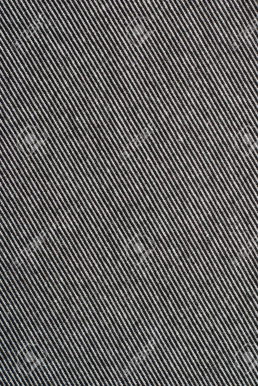 Black And White Striped Cotton Polyester Texture Background Stock