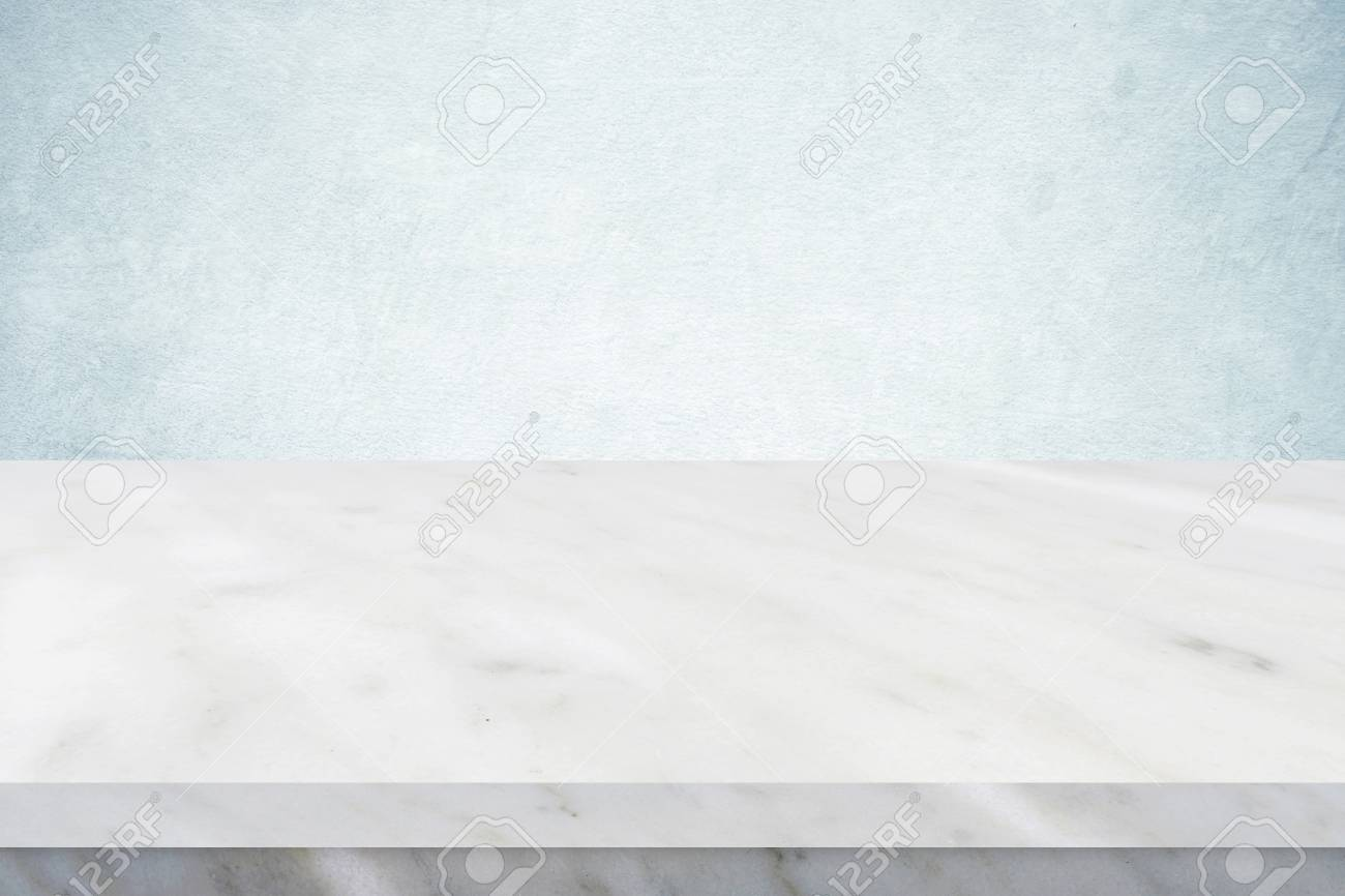 white marble table top. Empty White Marble Table Over Green Cement Wall Background, Banner, Top, Shelf Top M