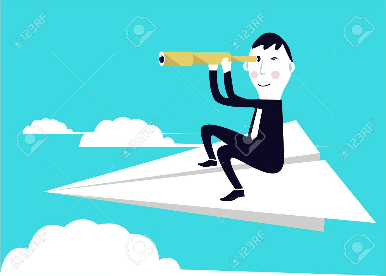 Businessman is seeking for an opportunity Stock Vector - 25517171