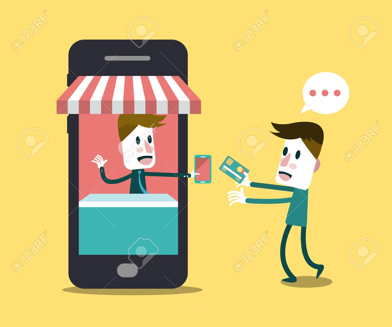 Shopping Online, Online Store On Smart Phone Business And Digital ...