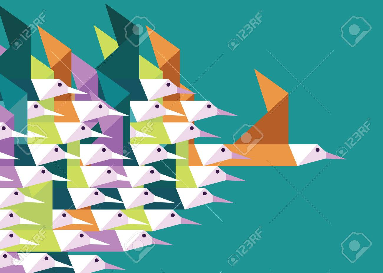 3 495 team lead stock vector illustration and royalty team team lead geometric group of birds leadership and competition concept flat vector illustration