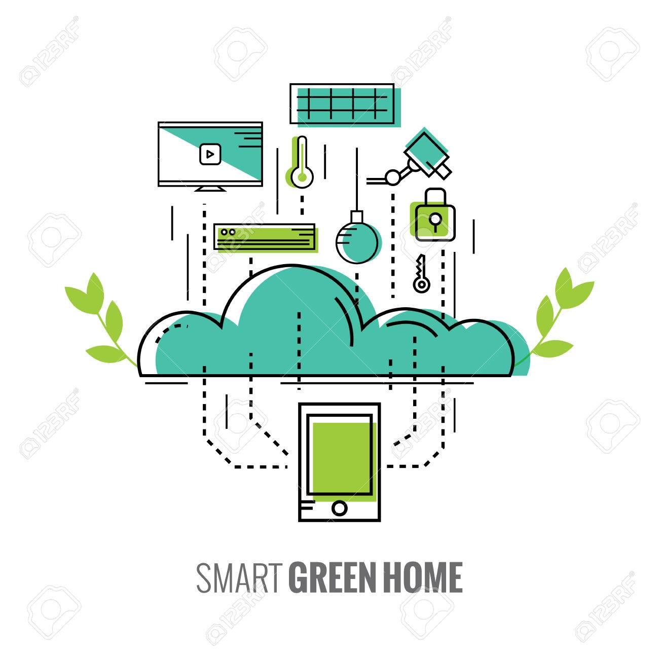 smart phone contrôler la maison. Économie d'énergie. intelligent
