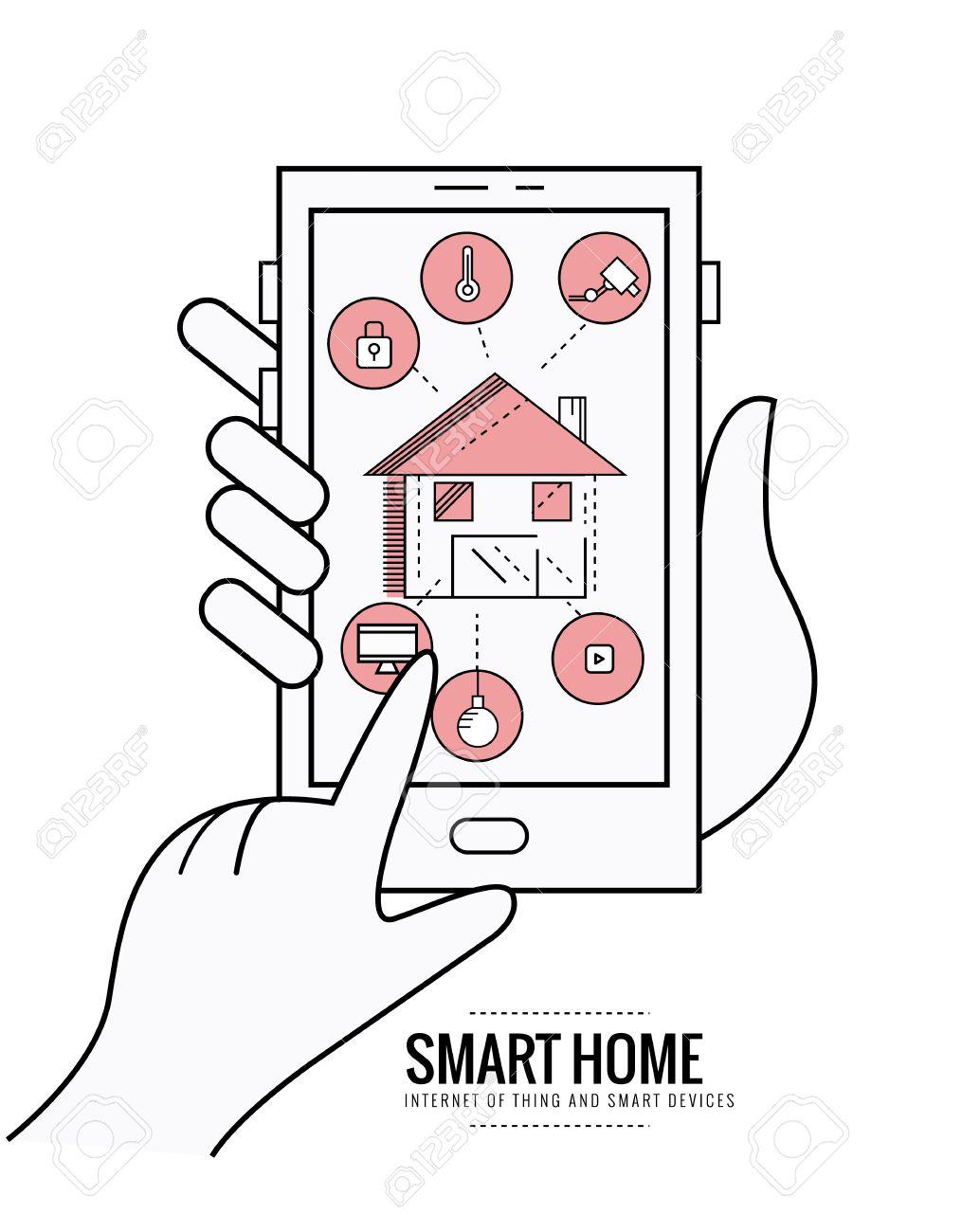 Smart Home Technologie System Mit Zentraler Steuerung Von