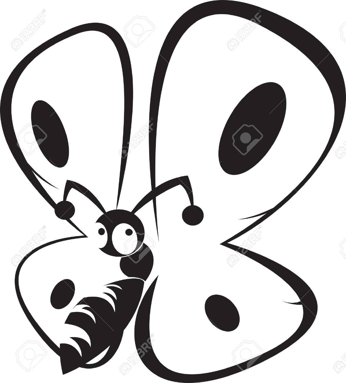 Encantador Mariposa Detallada Para Colorear Composición - Dibujos ...