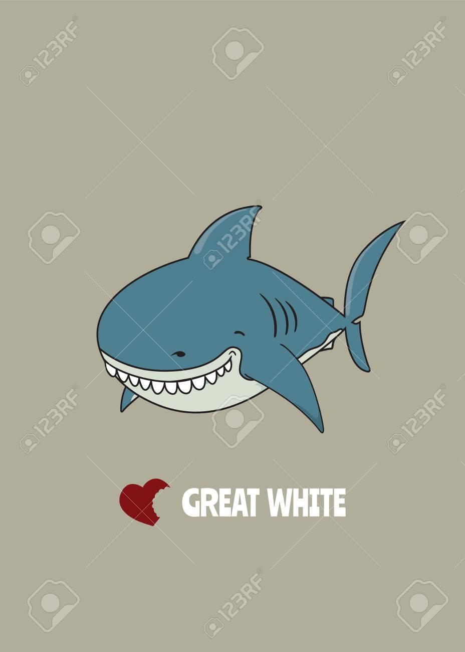 Bonito Significa Grandes Páginas De Colorear De Tiburón Blanco ...