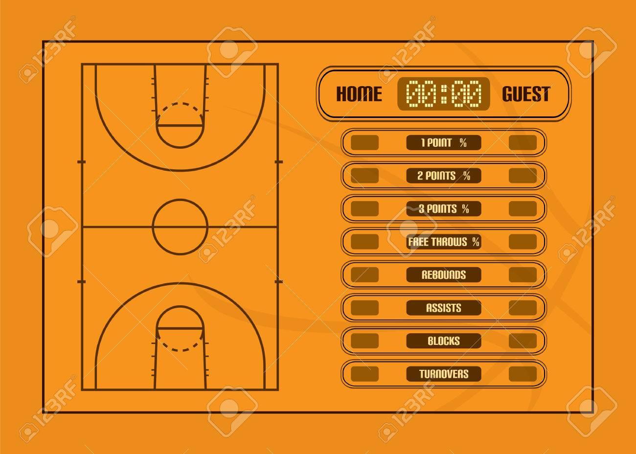 Partido De Baloncesto Ilustración Report Basketball Estadísticas Judiciales Y De Juego De Vectores Ilustraciones Vectoriales Clip Art Vectorizado Libre De Derechos Image 46407580