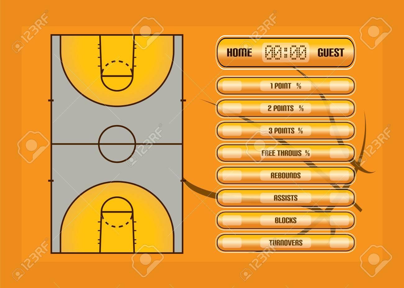 Partido De Baloncesto Ilustración Report Basketball Estadísticas Judiciales Y De Juego De Vectores Ilustraciones Vectoriales Clip Art Vectorizado Libre De Derechos Image 46407668