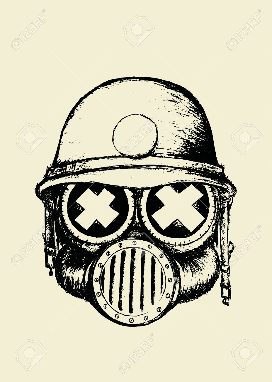 Cool Skull Gas Mask Drawings
