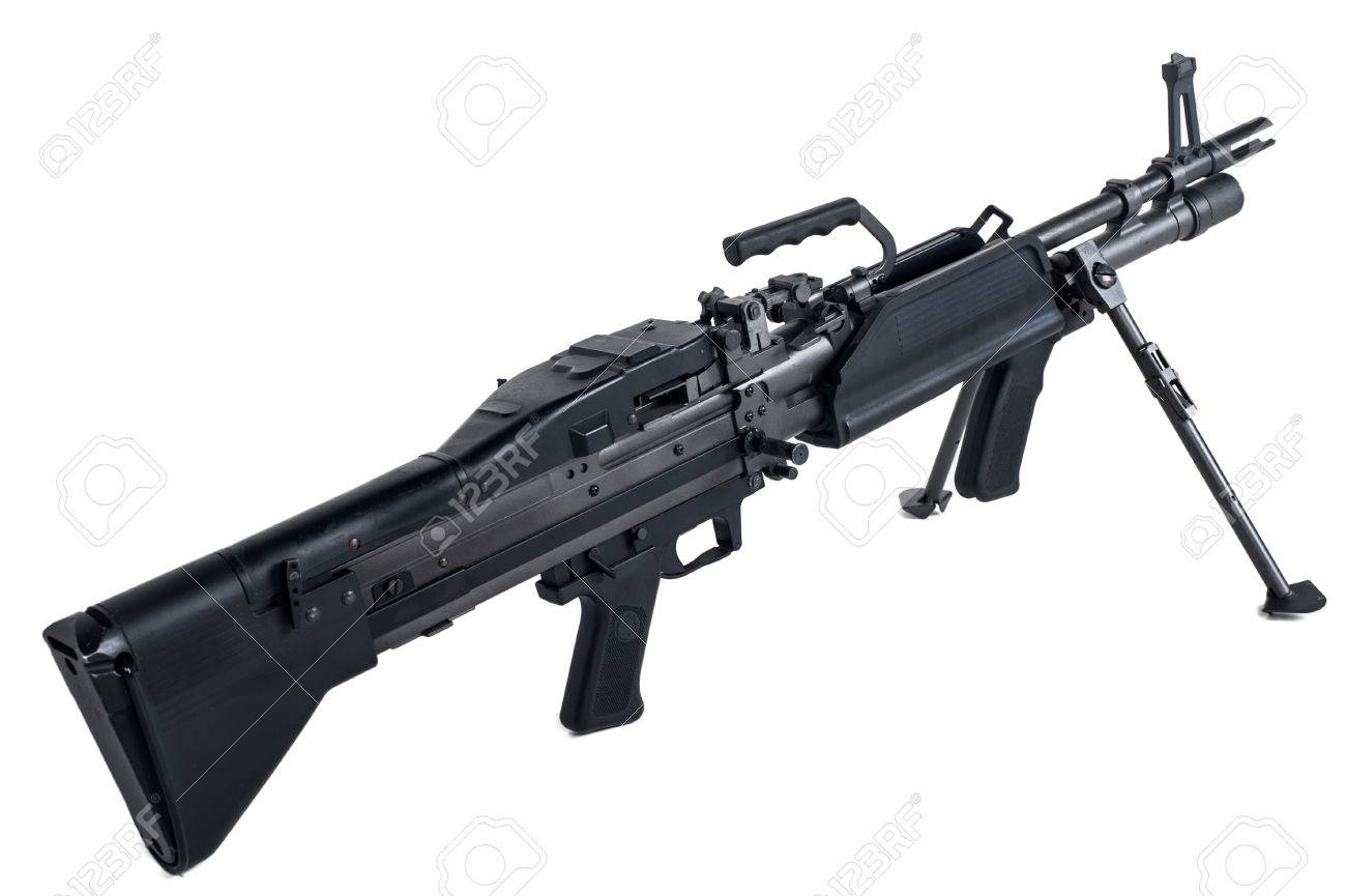machine gun m60 in isolated stock photo picture and royalty free