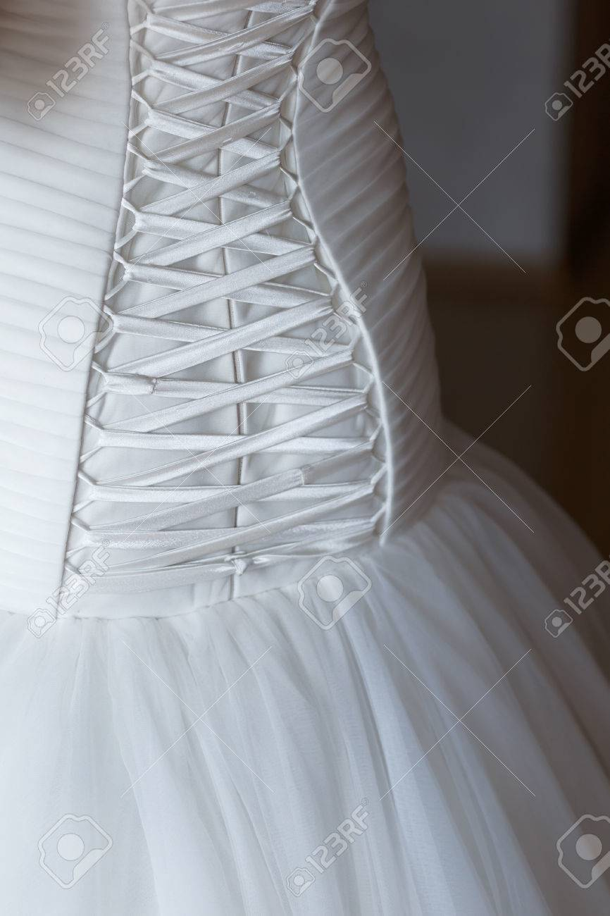 Expensive Wedding Dress Backside Lacing Stock Photo, Picture And ...