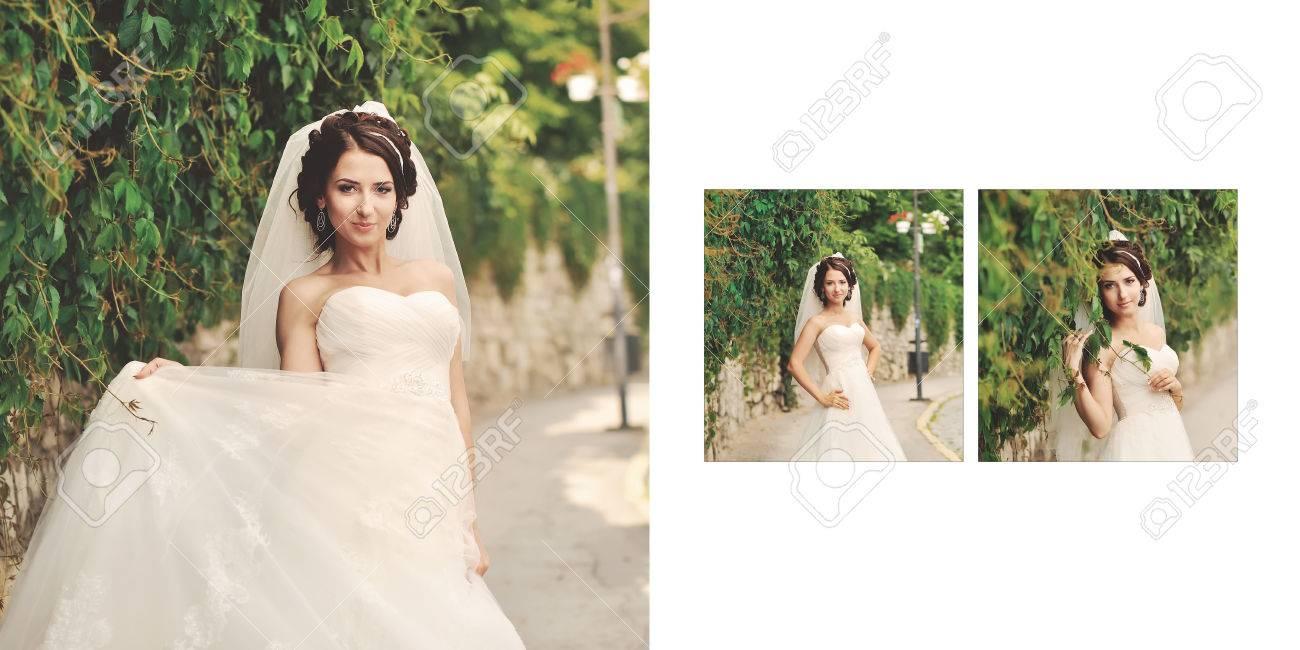 Design Der Hochzeitsfotobuch In 16 9 Grosse Lizenzfreie Fotos Bilder