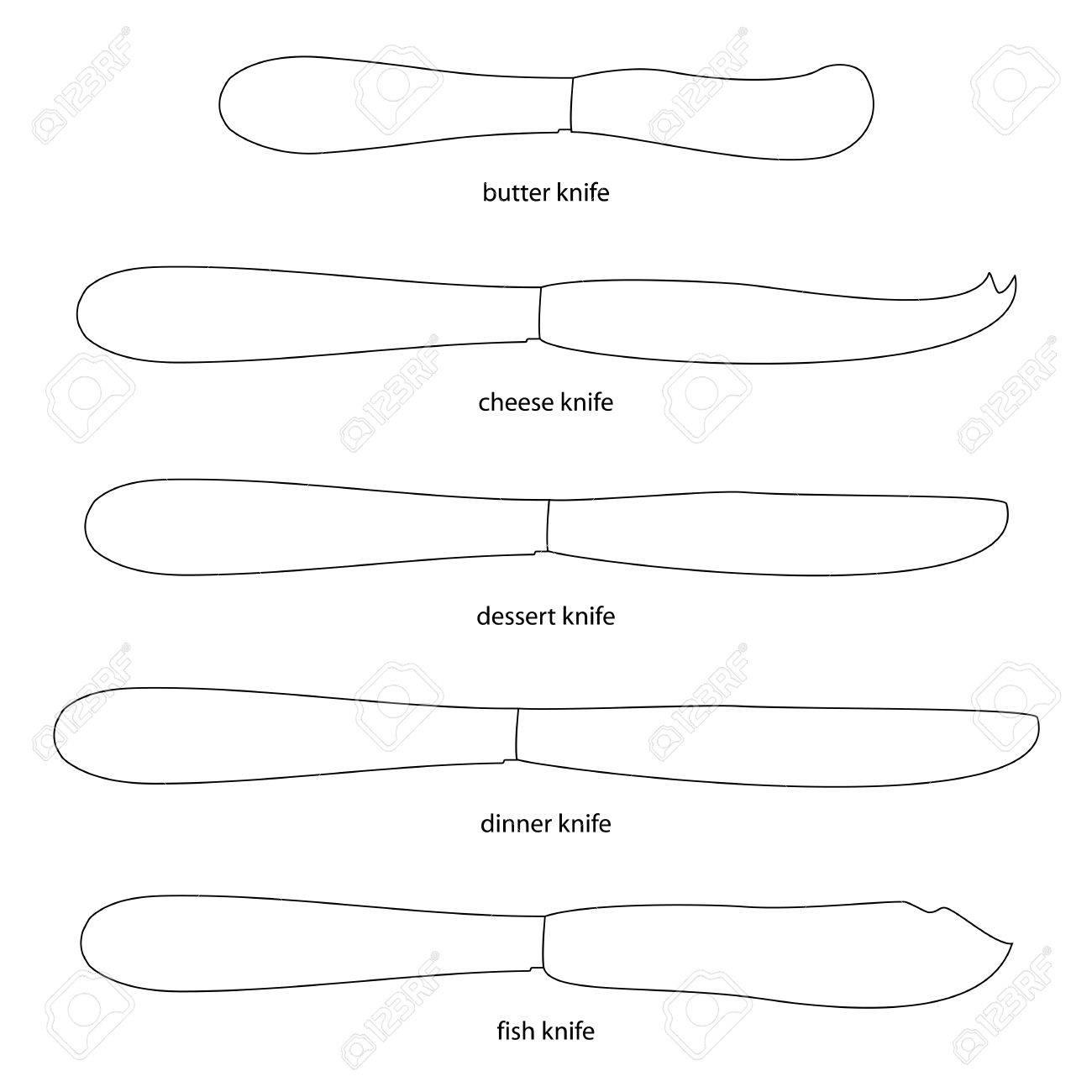 Ustensiles De Cuisine Ensemble De Couteaux Avec Couteau Noms De