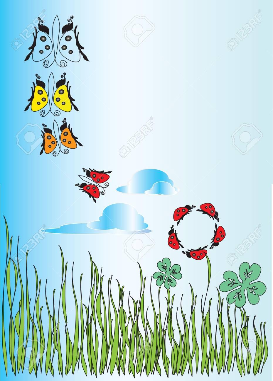 fantasy floral background Stock Vector - 15716516