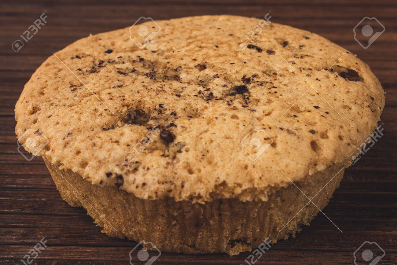 View of fresh and delicious homemade walnut cake - 164999663