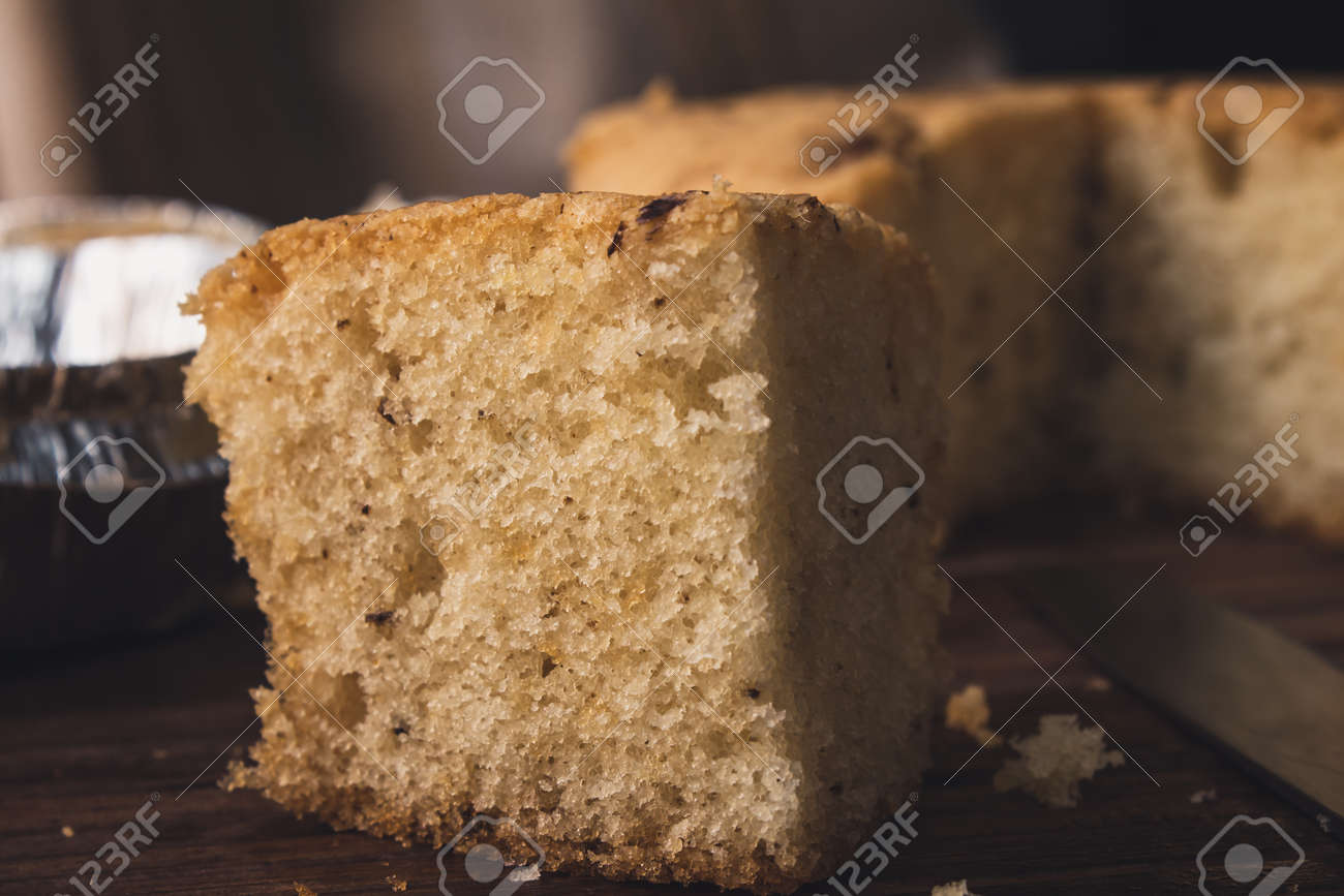 View of fresh and delicious homemade walnut cake - 164999737