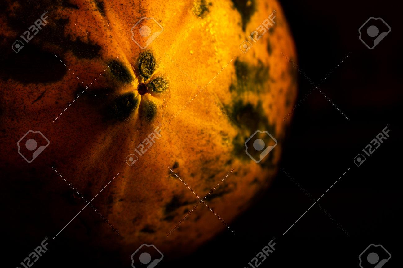 Papaya fruit isolated on black background. Use for fruit concept. Selective focus - 165339404