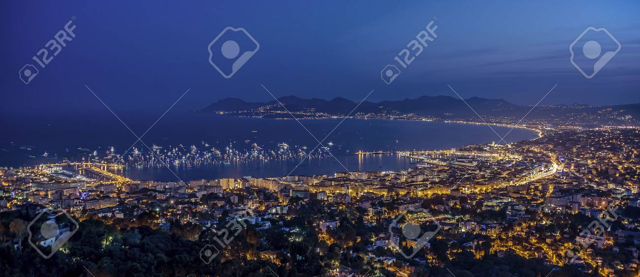Cannes citylight in summer - 45331691